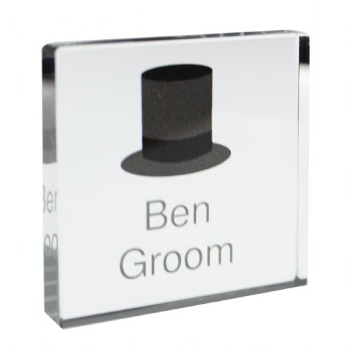 Personalised Top Hat Small Crystal Token